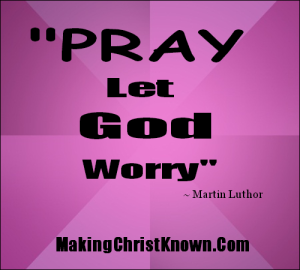 Exactly what did Jesus say about worry