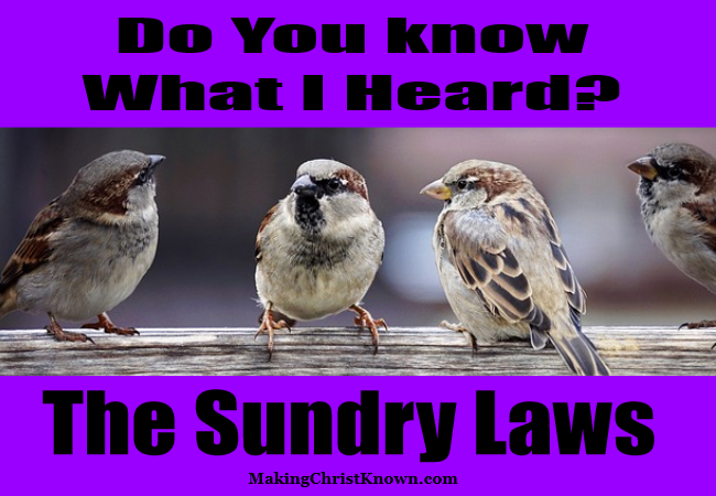 Sundry Laws