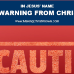 warning from Christ