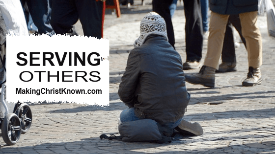 What did Jesus say about serving others?