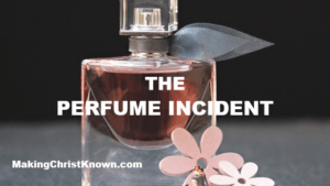 Jesus is annointed with perfume